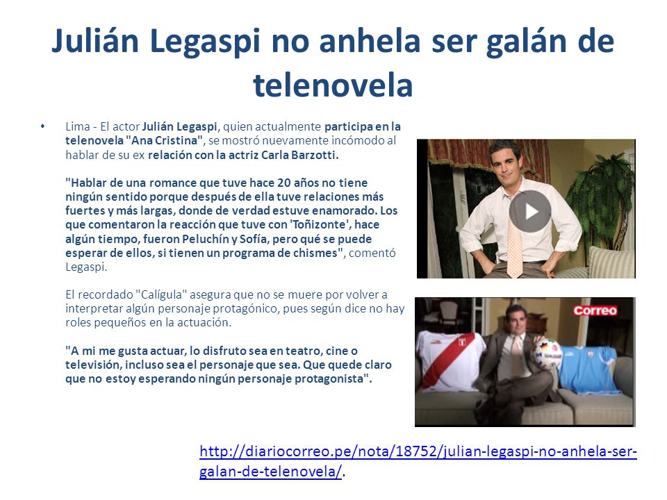 Julián Legaspi no anhela ser galán de telenovela