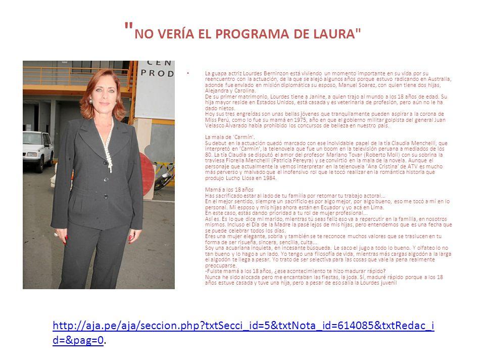 NO VERÍA EL PROGRAMA DE LAURA
