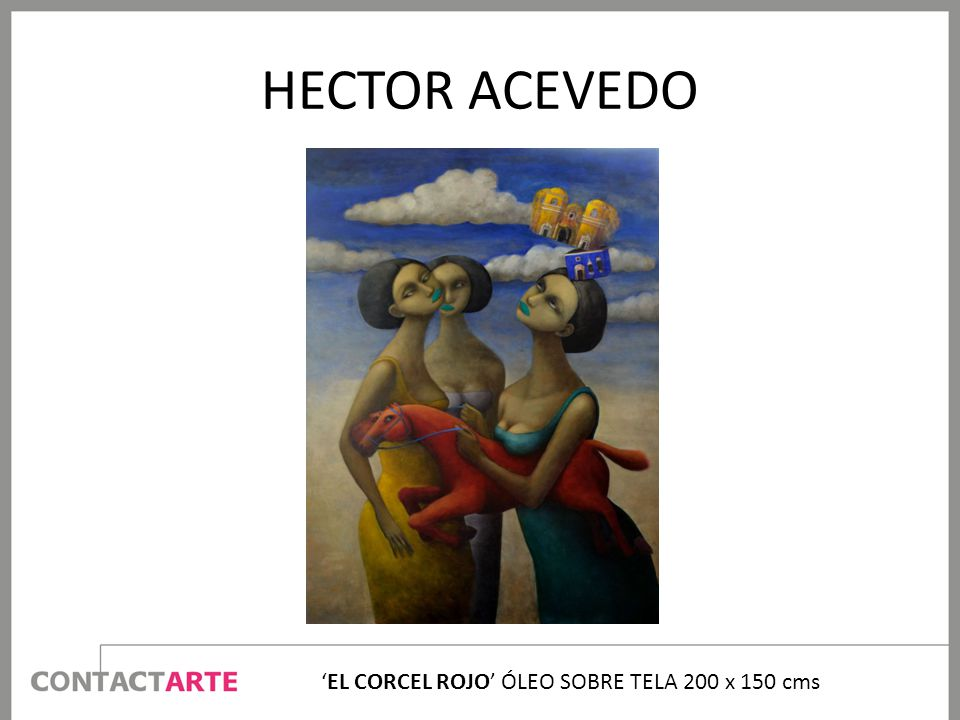 'EL CORCEL ROJO' ÓLEO SOBRE TELA 200 x 150 cms
