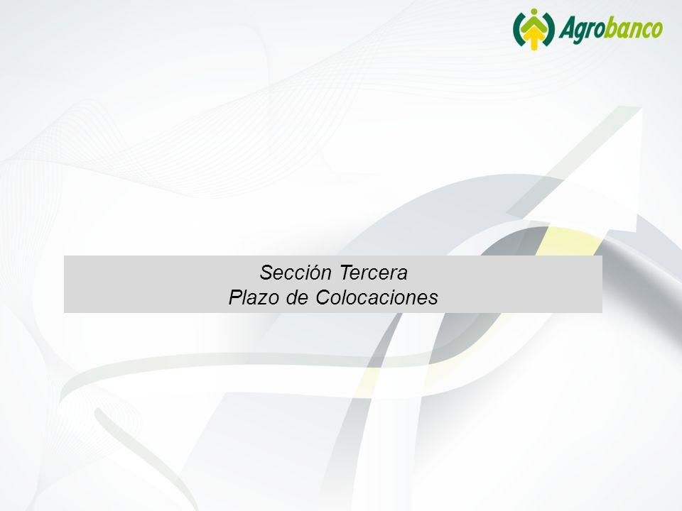 Sección Tercera Plazo de Colocaciones