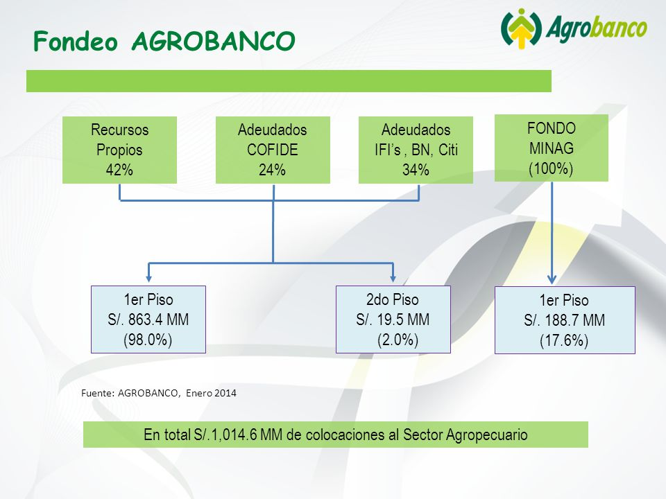 En total S/.1,014.6 MM de colocaciones al Sector Agropecuario