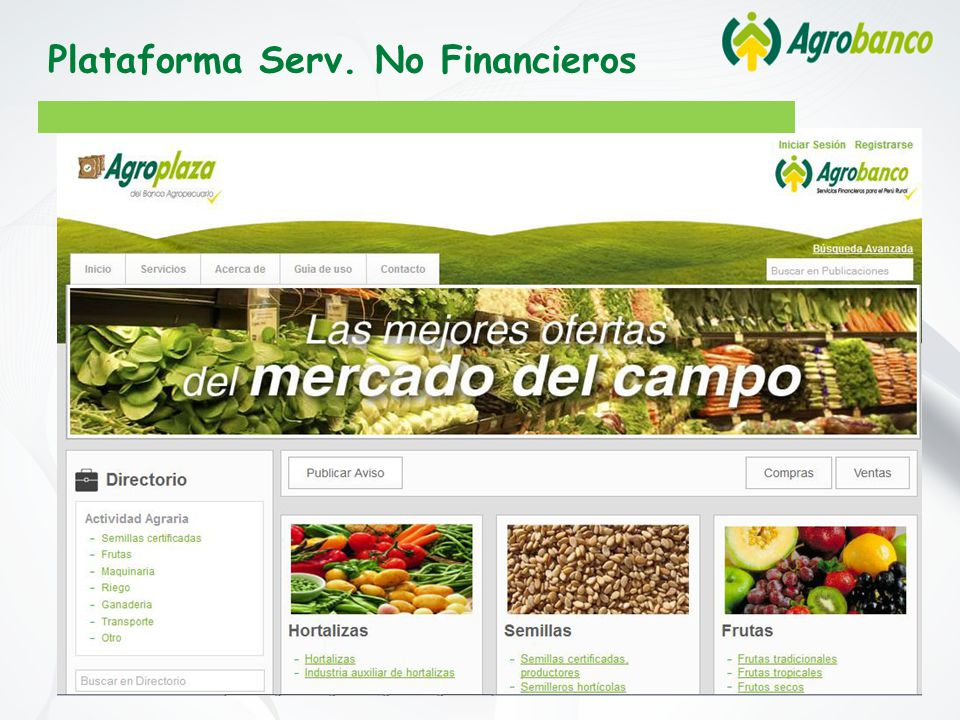 Plataforma Serv. No Financieros