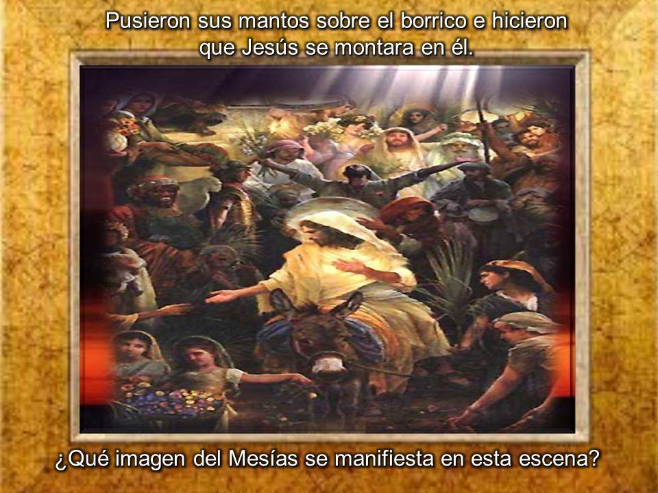 ¿Qué imagen del Mesías se manifiesta en esta escena