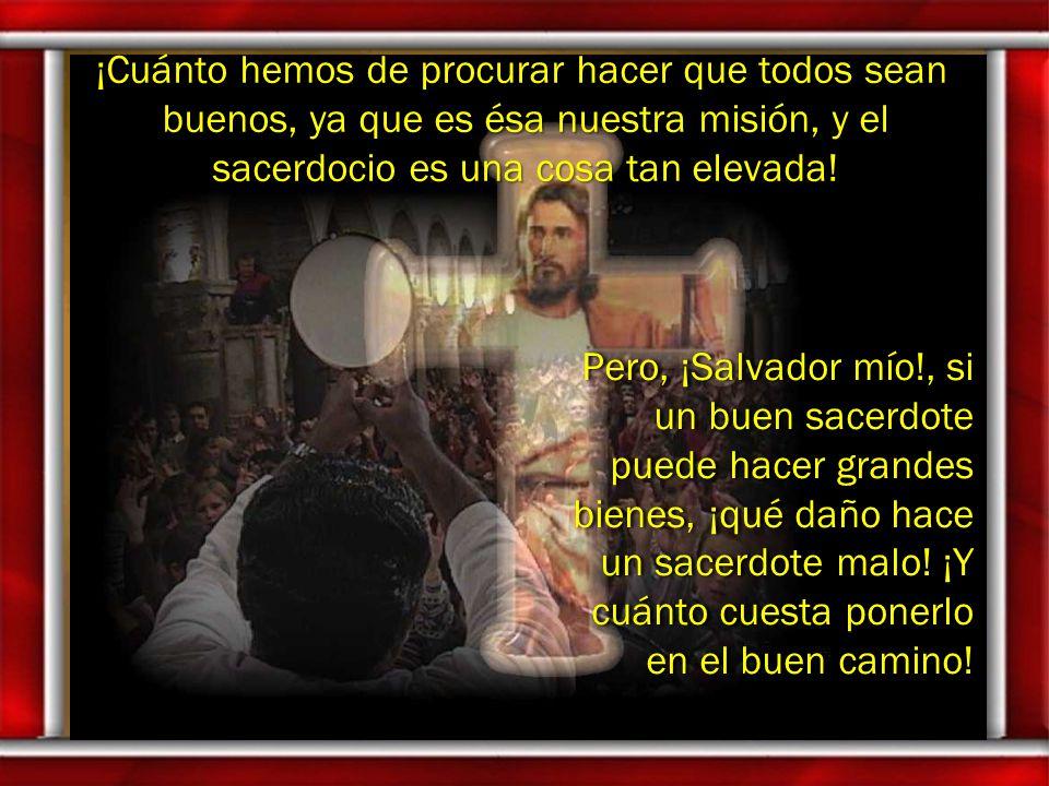 ¡Cuánto hemos de procurar hacer que todos sean buenos, ya que es ésa nuestra misión, y el sacerdocio es una cosa tan elevada!