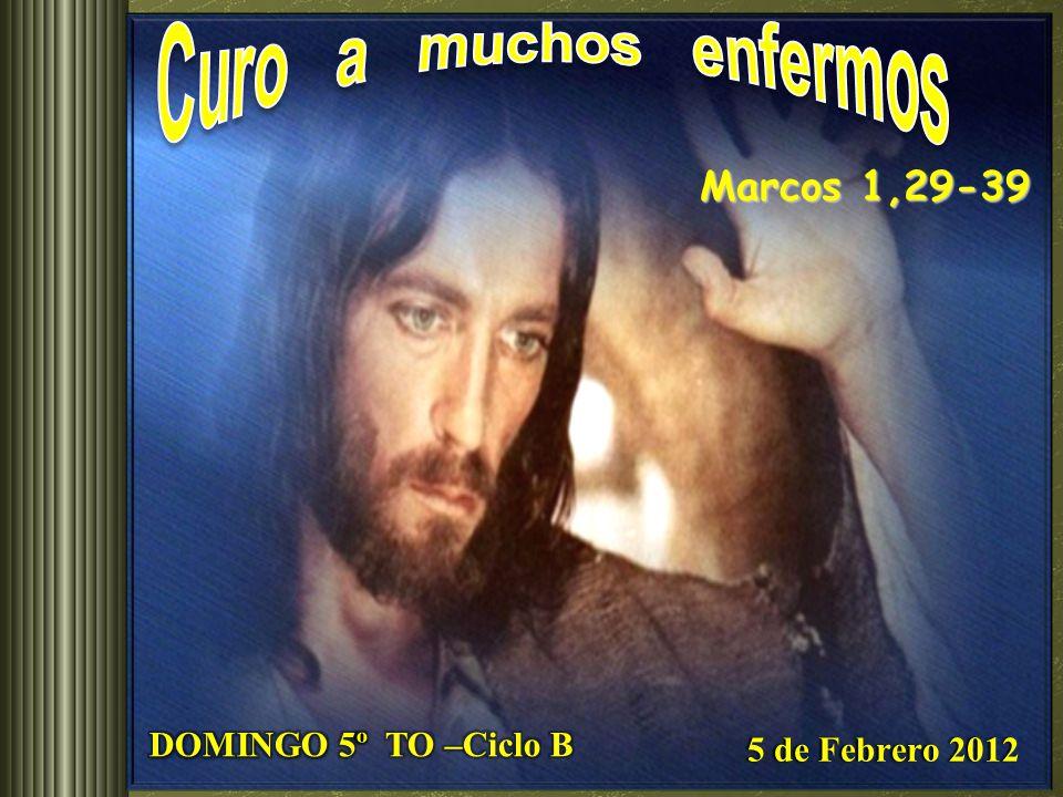 Curo a muchos enfermos Marcos 1,29-39 DOMINGO 5º TO –Ciclo B