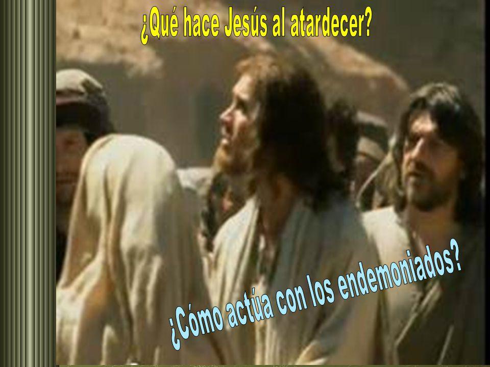 ¿Qué hace Jesús al atardecer