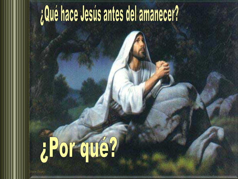 ¿Qué hace Jesús antes del amanecer