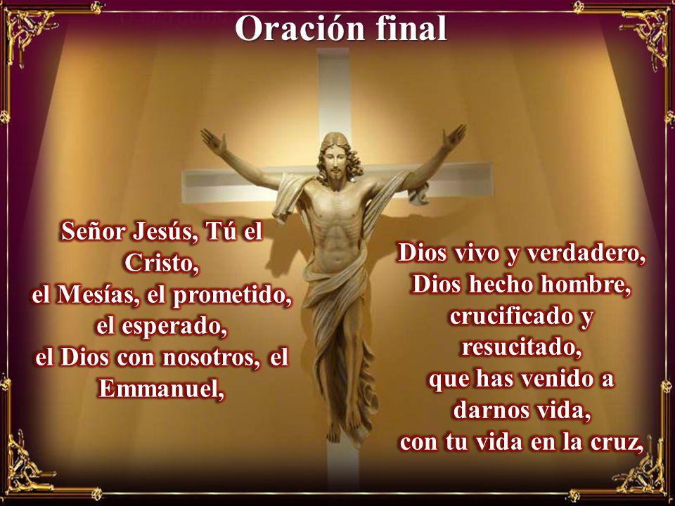 Oración final Señor Jesús, Tú el Cristo, Dios vivo y verdadero,