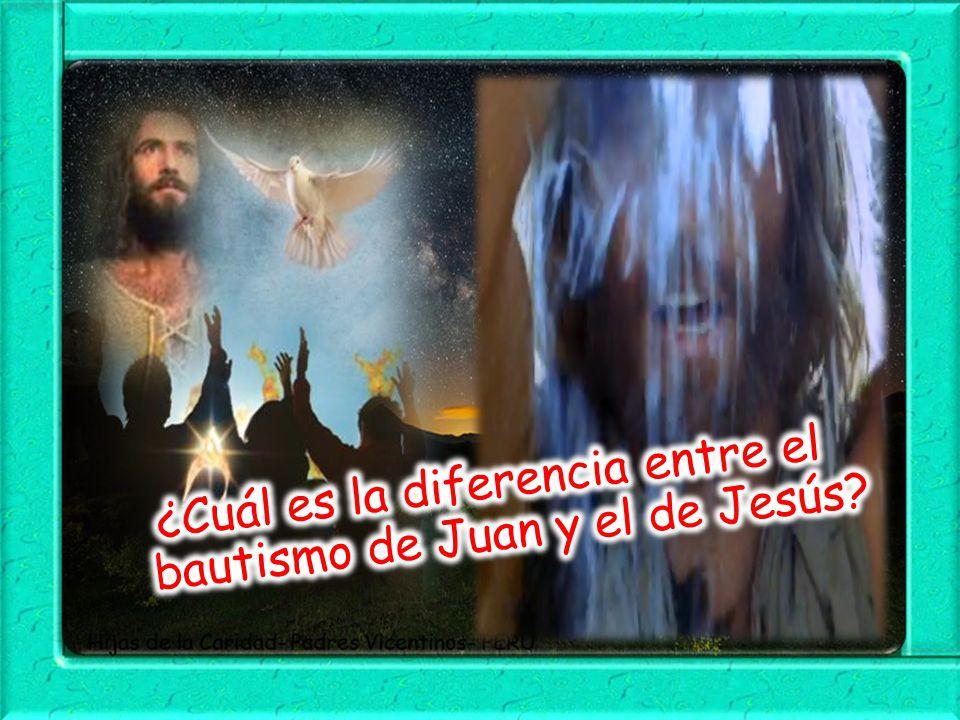 ¿Cuál es la diferencia entre el bautismo de Juan y el de Jesús