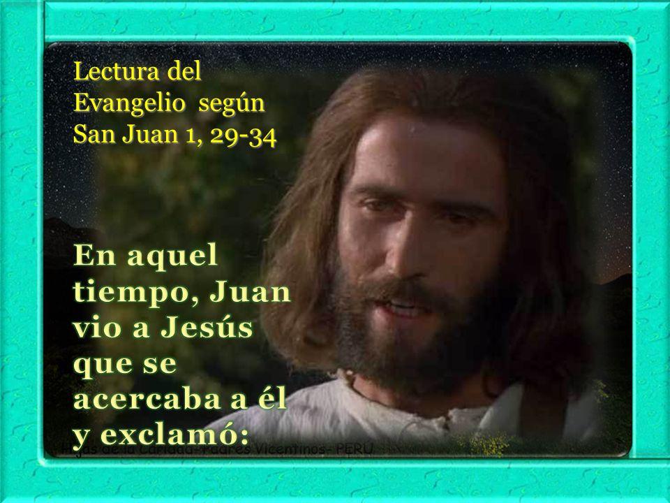 En aquel tiempo, Juan vio a Jesús que se acercaba a él y exclamó: