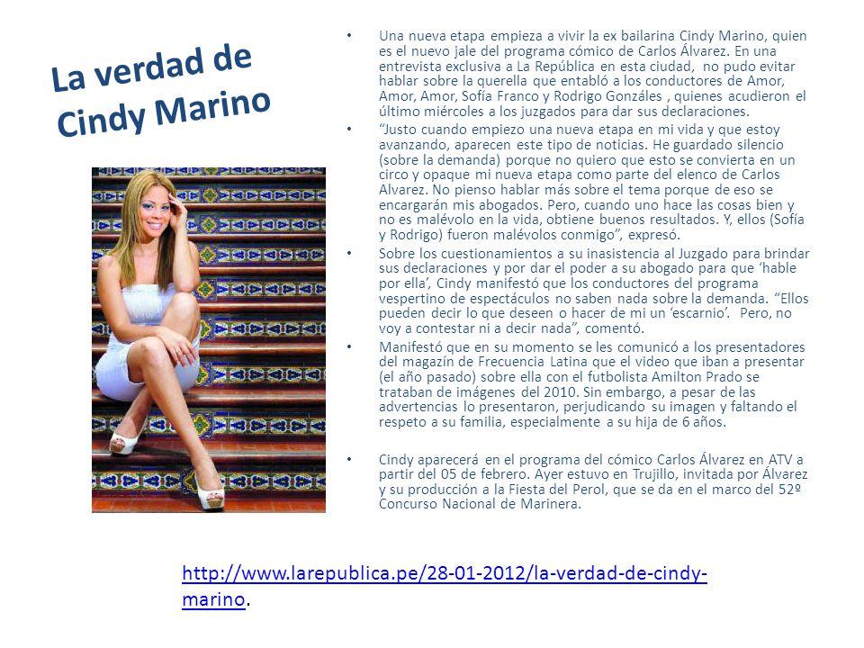 La verdad de Cindy Marino