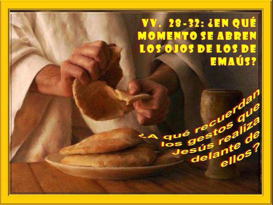 ¿A qué recuerdan los gestos que Jesús realiza delante de ellos