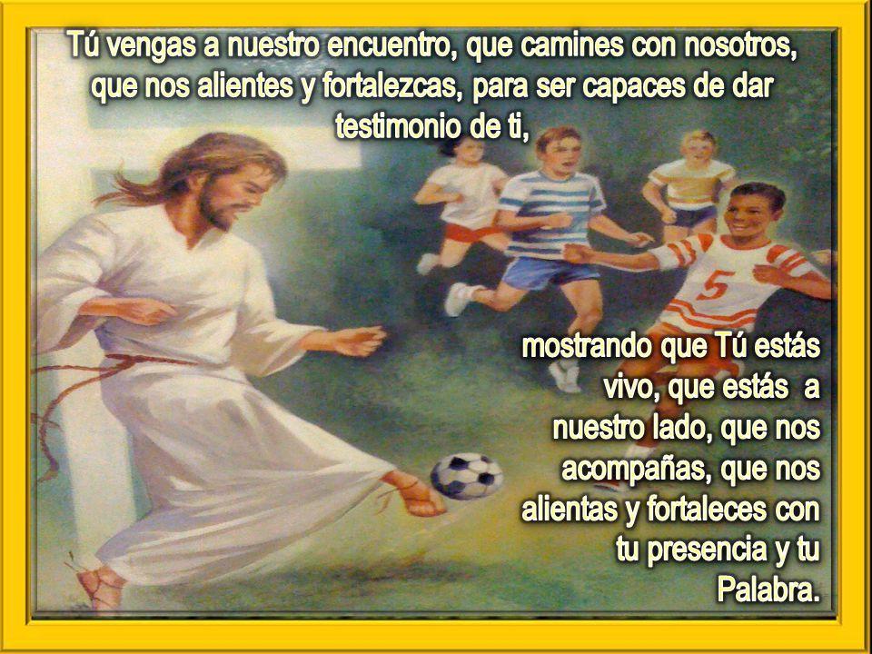 Tú vengas a nuestro encuentro, que camines con nosotros, que nos alientes y fortalezcas, para ser capaces de dar testimonio de ti,