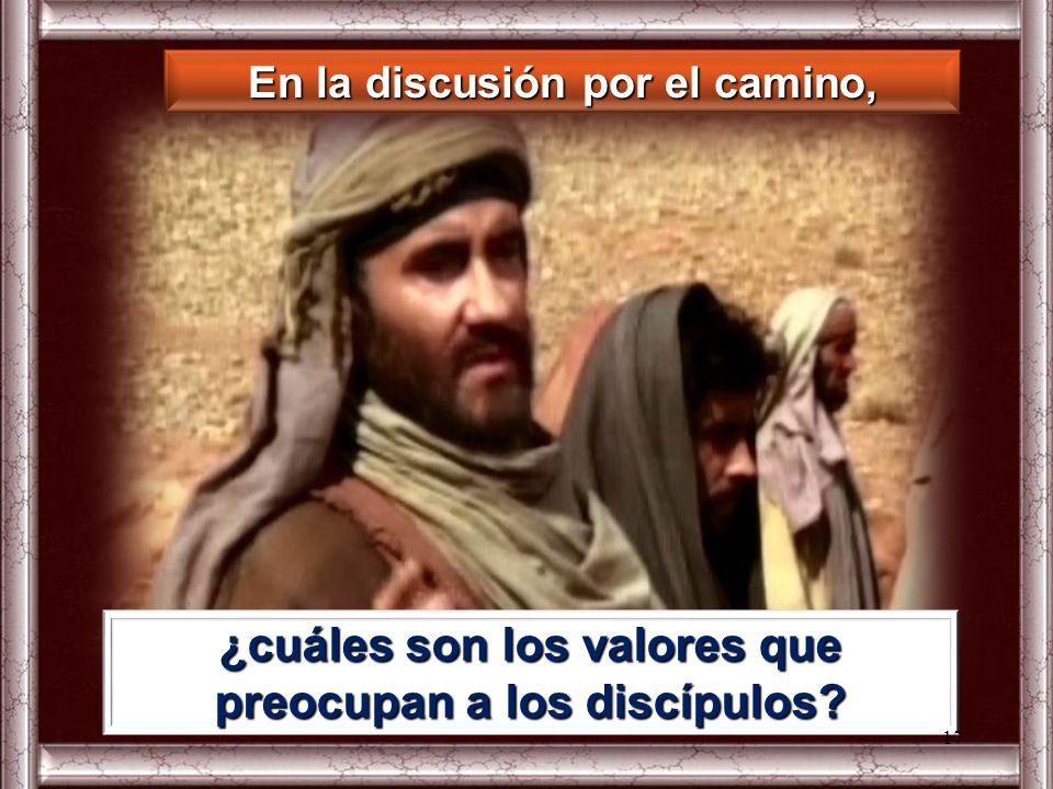 ¿cuáles son los valores que preocupan a los discípulos