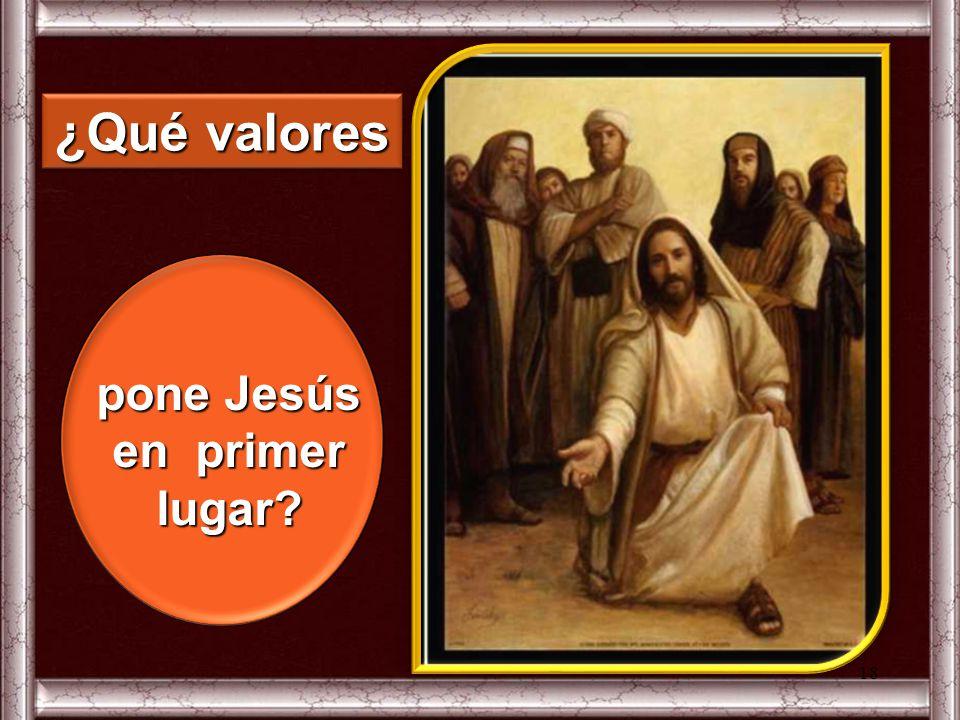 pone Jesús en primer lugar