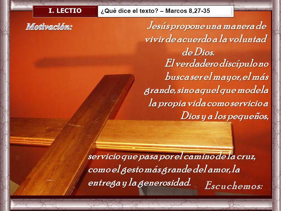 Jesús propone una manera de vivir de acuerdo a la voluntad de Dios.