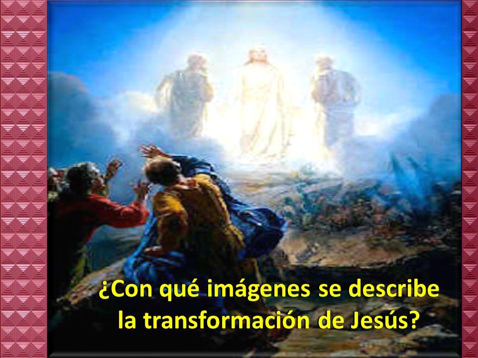 ¿Con qué imágenes se describe la transformación de Jesús