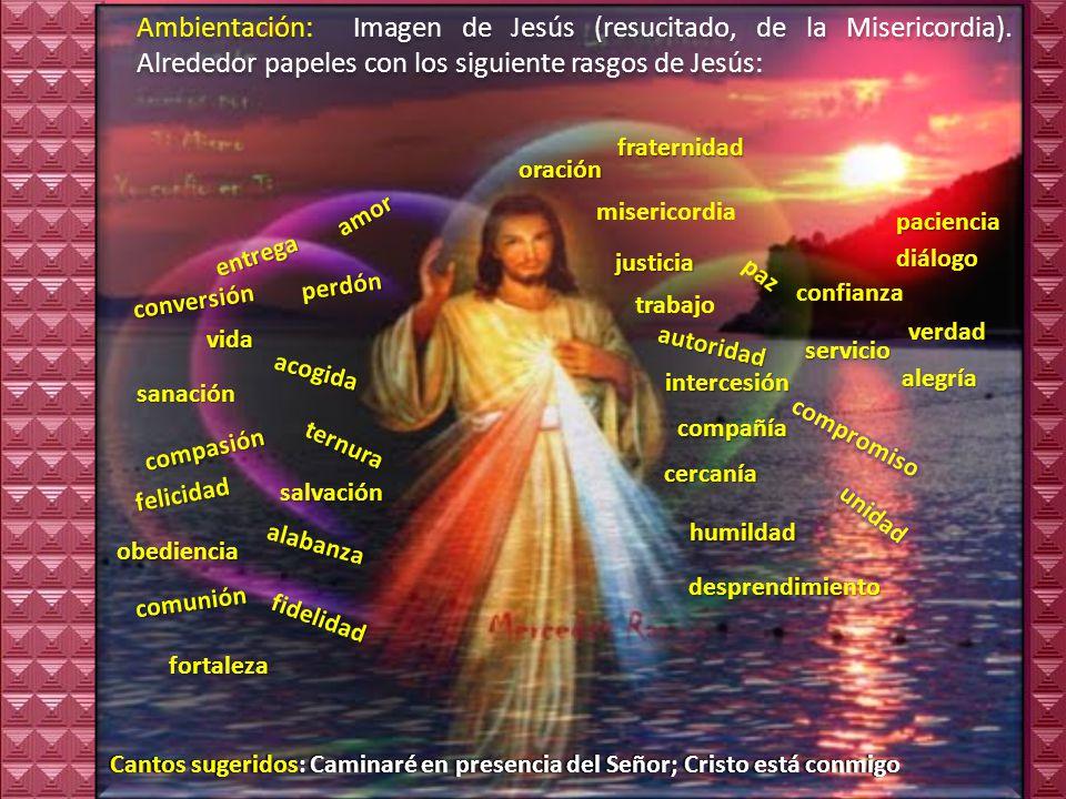 Ambientación: Imagen de Jesús (resucitado, de la Misericordia)