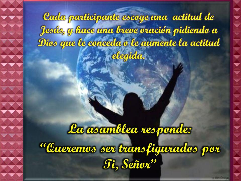 Queremos ser transfigurados por Ti, Señor