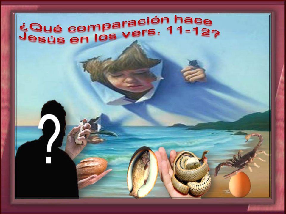 ¿Qué comparación hace Jesús en los vers. 11-12