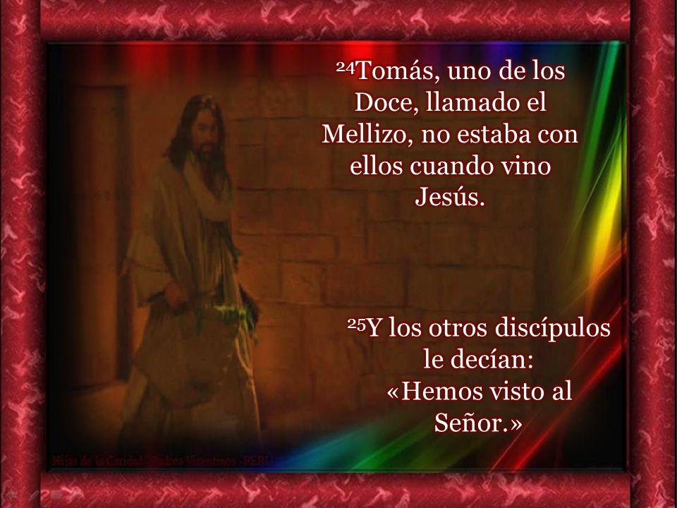25Y los otros discípulos le decían: «Hemos visto al Señor.»