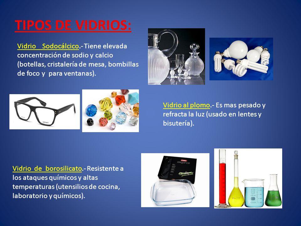 TIPOS DE VIDRIOS: