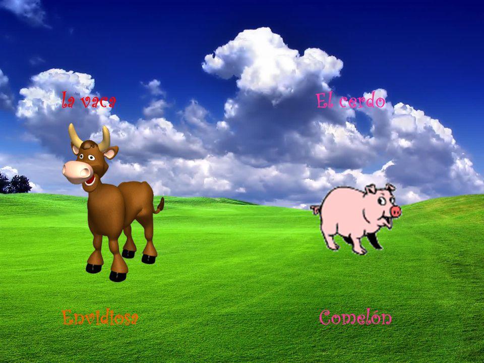 la vaca El cerdo Envidiosa Comelón