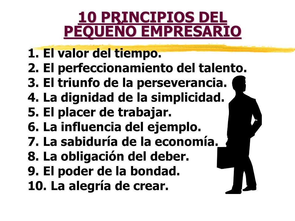10 PRINCIPIOS DEL PEQUEÑO EMPRESARIO