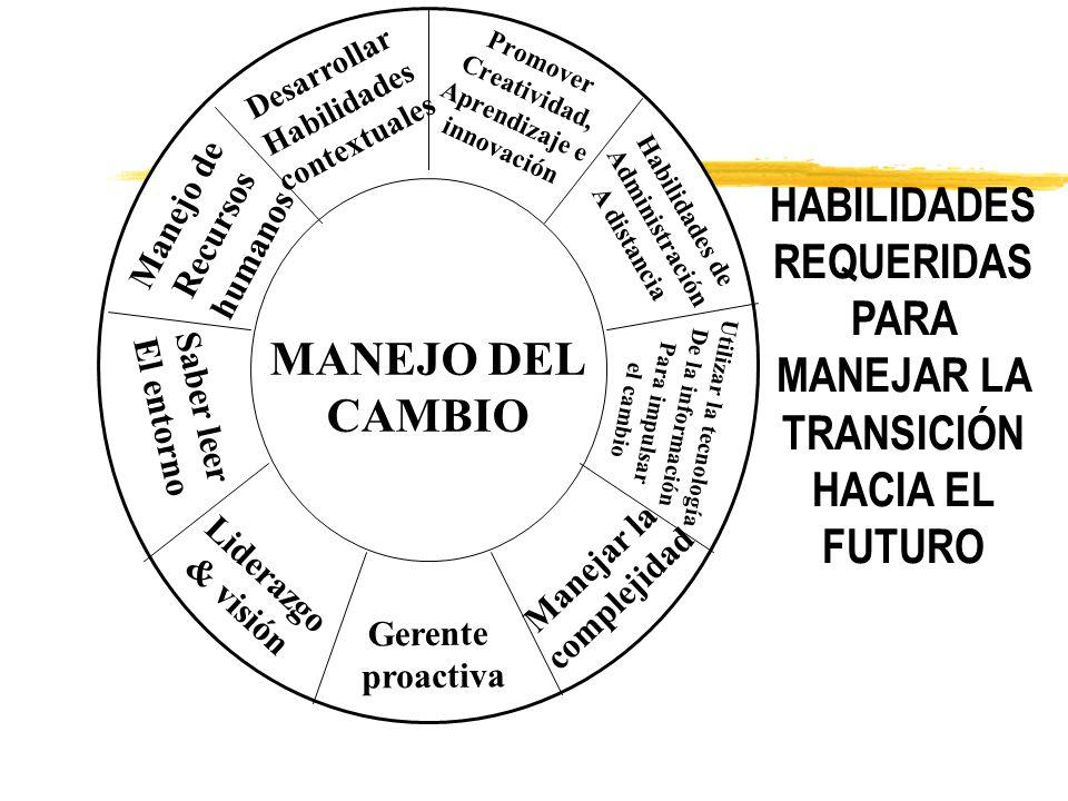 HABILIDADES REQUERIDAS PARA MANEJAR LA TRANSICIÓN HACIA EL FUTURO