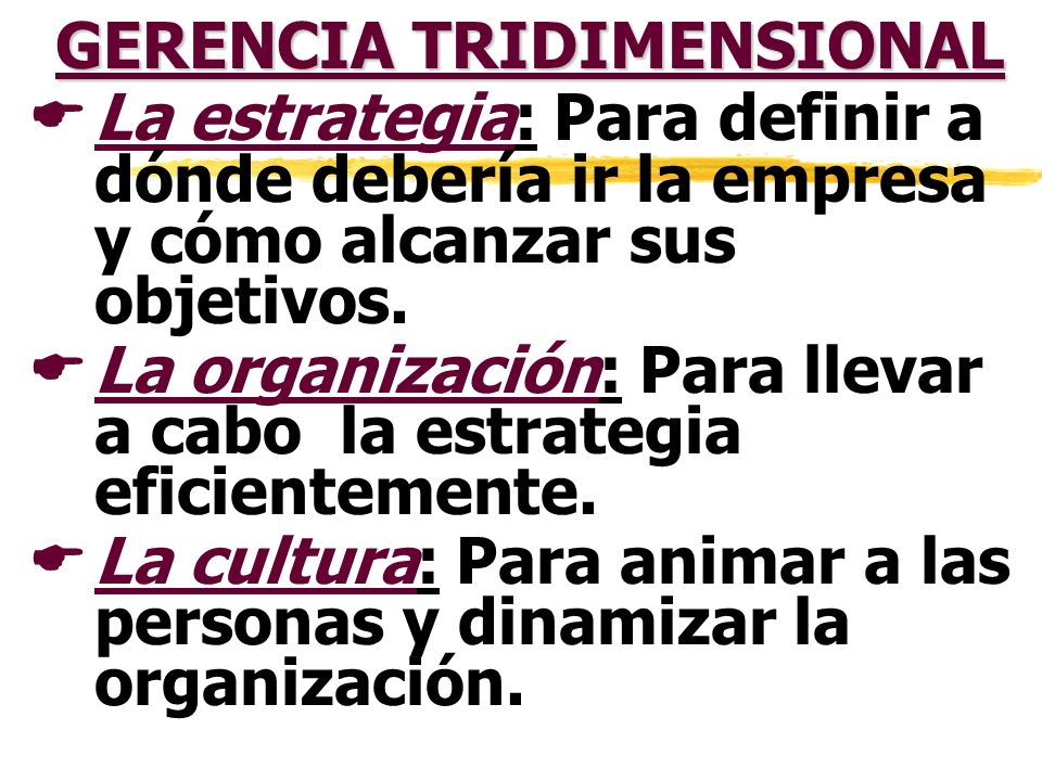 GERENCIA TRIDIMENSIONAL