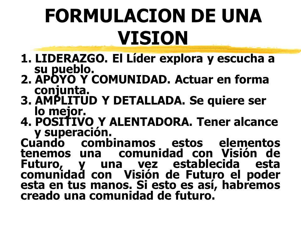 FORMULACION DE UNA VISION