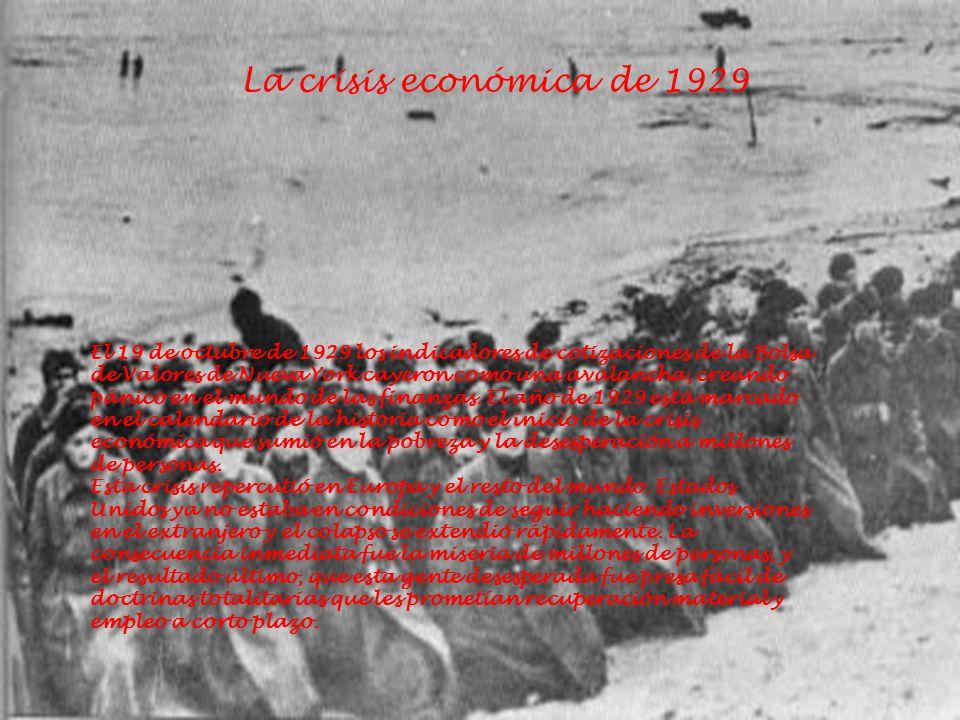 La crisis económica de 1929