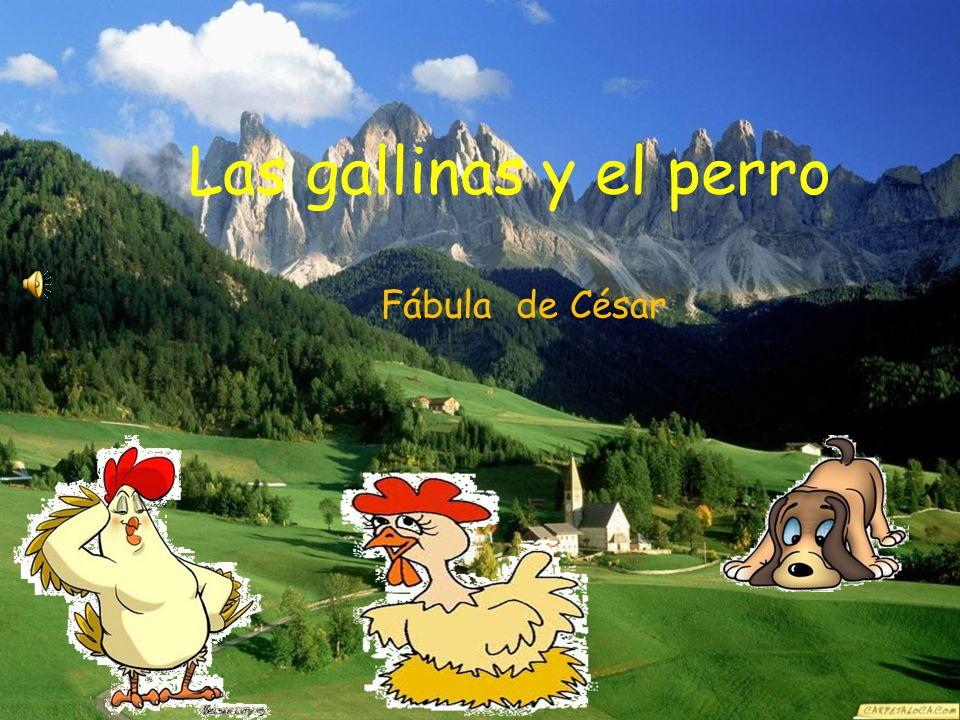 Las gallinas y el perro Fábula de César