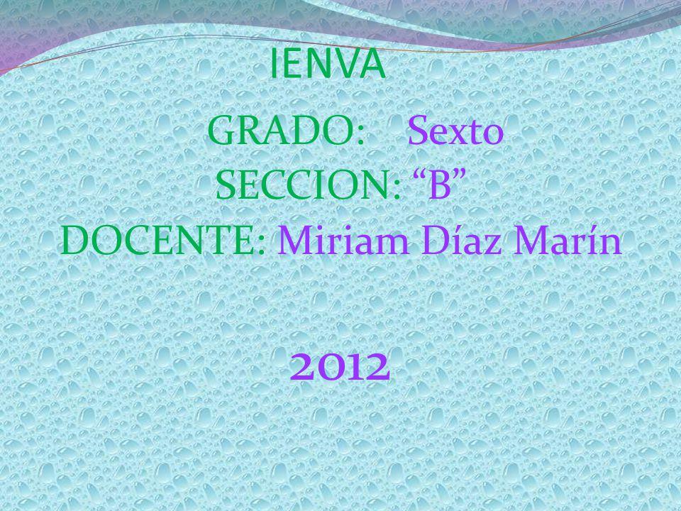 DOCENTE: Miriam Díaz Marín