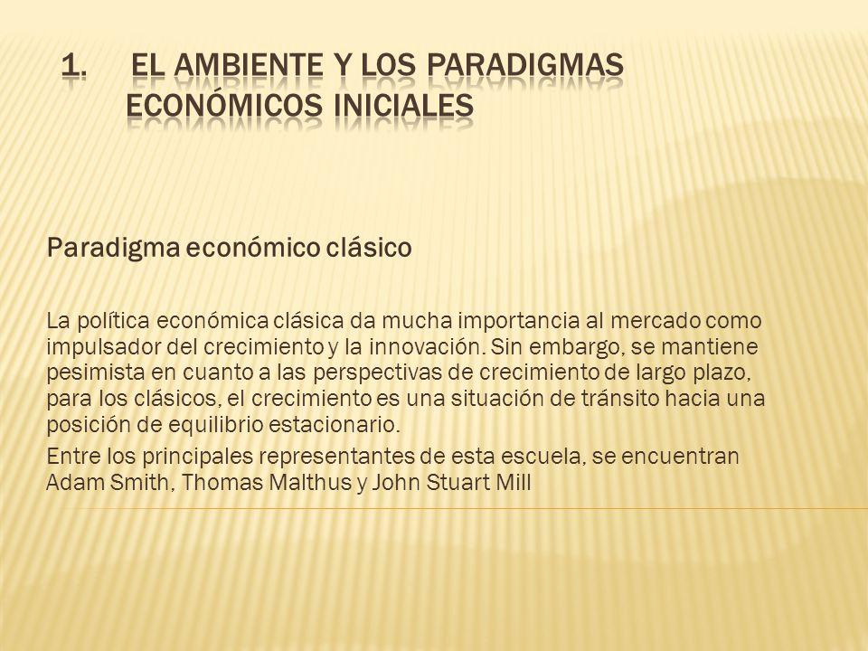 El ambiente y los paradigmas económicos iniciales
