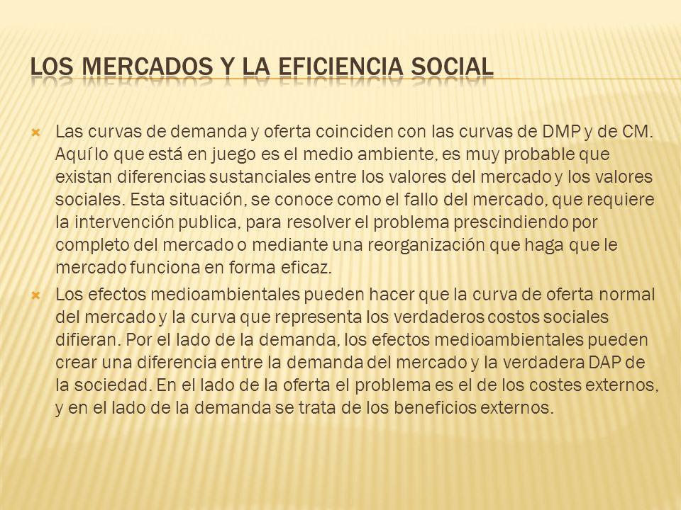 Los mercados y la eficiencia social