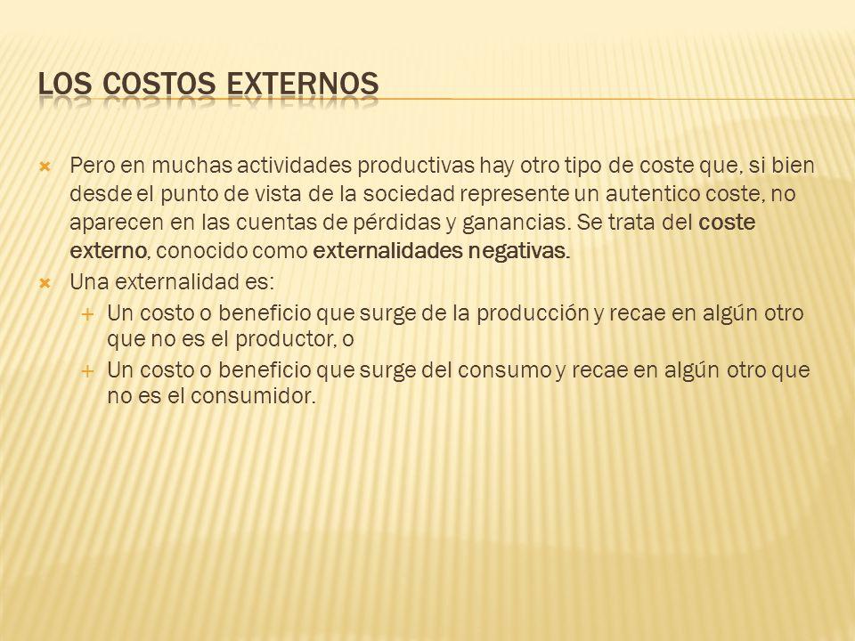 Los costos externos