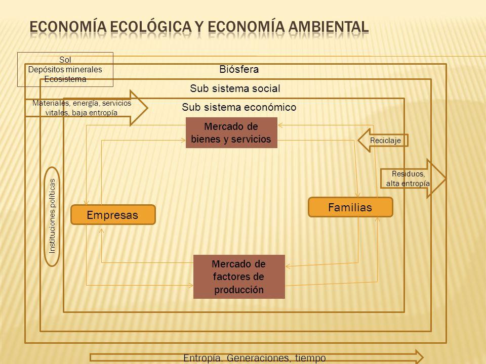 Economía ecológica y economía ambiental