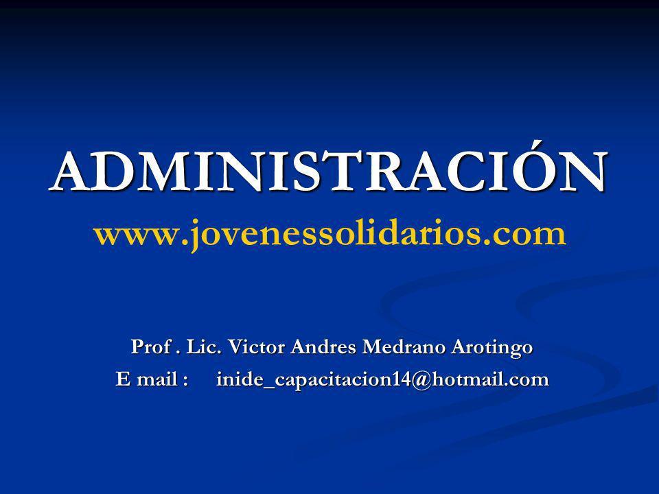 ADMINISTRACIÓN www.jovenessolidarios.com