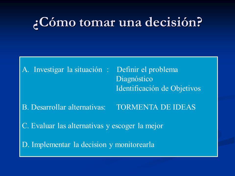 ¿Cómo tomar una decisión