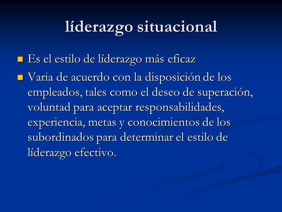 líderazgo situacional