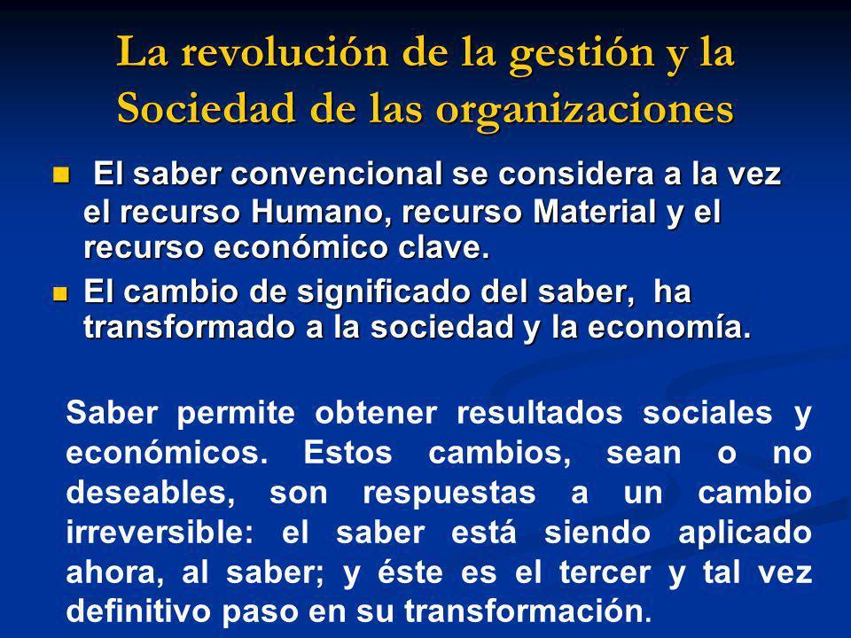 La revolución de la gestión y la Sociedad de las organizaciones
