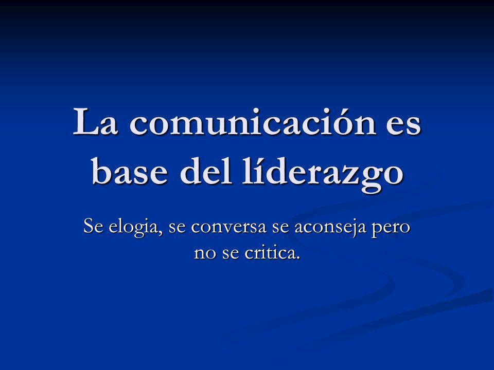 La comunicación es base del líderazgo