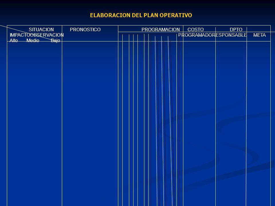 ELABORACION DEL PLAN OPERATIVO