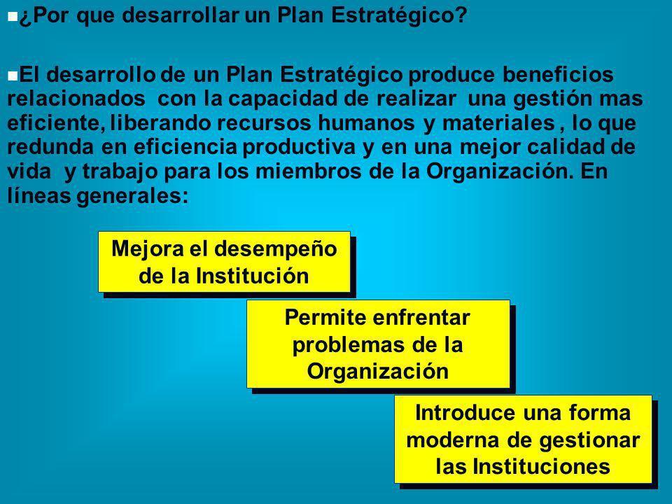 ¿Por que desarrollar un Plan Estratégico