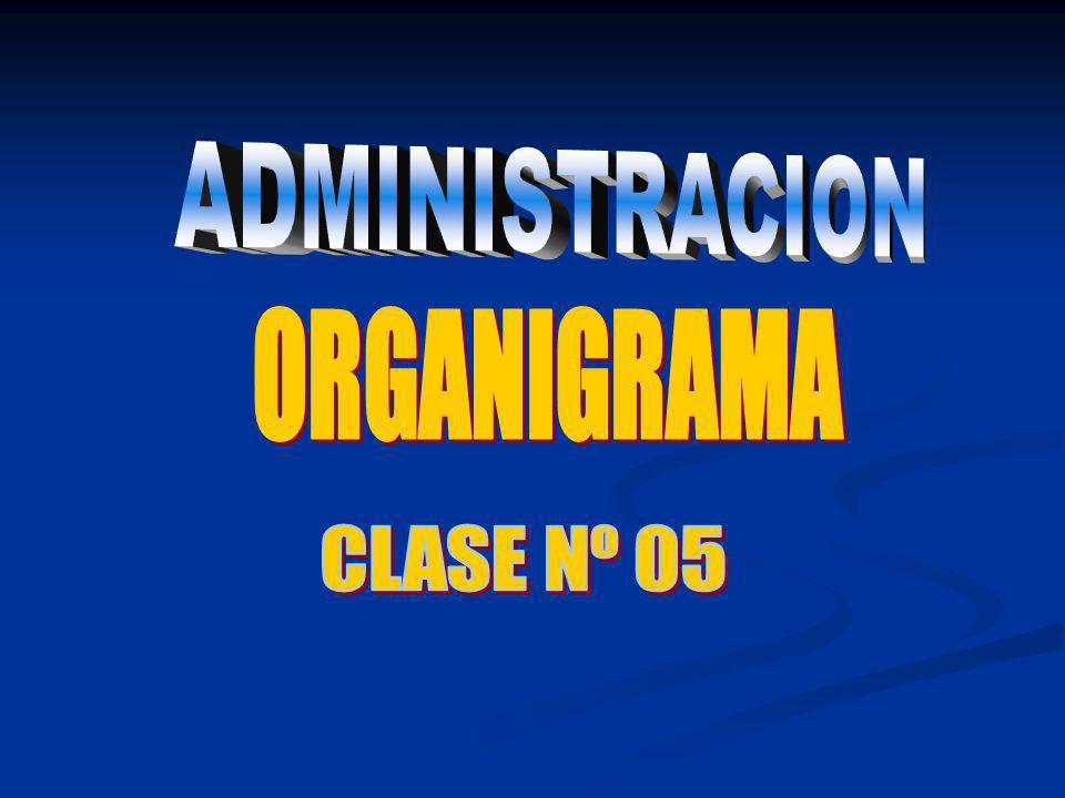 ADMINISTRACION ORGANIGRAMA CLASE Nº 05