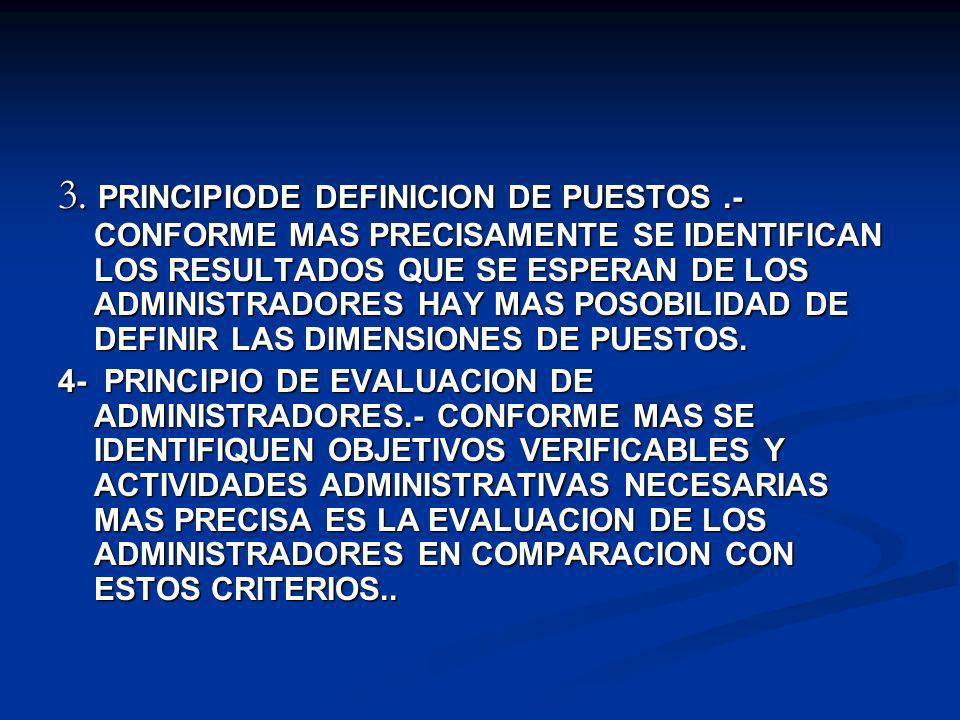 3. PRINCIPIODE DEFINICION DE PUESTOS