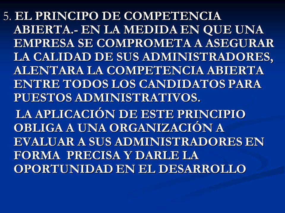 5. EL PRINCIPO DE COMPETENCIA ABIERTA