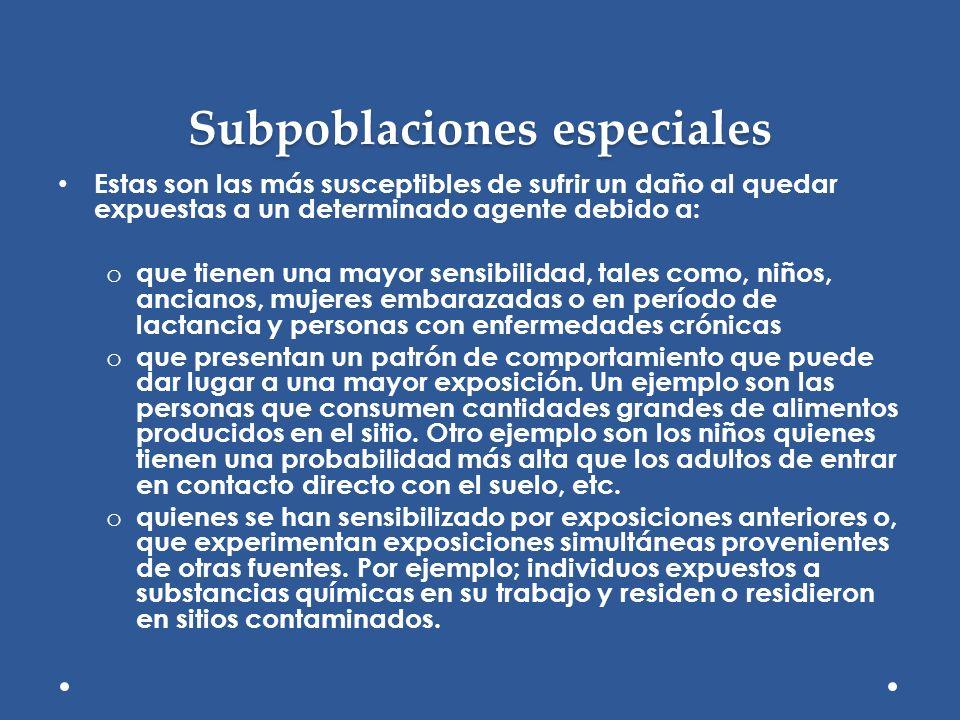 Subpoblaciones especiales
