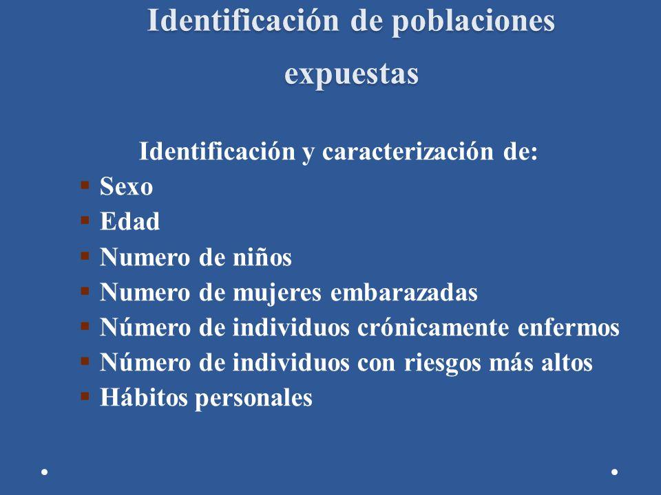 Identificación de poblaciones expuestas